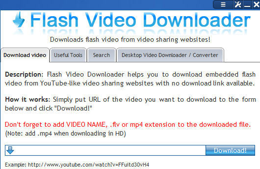 download embedded flash video from website