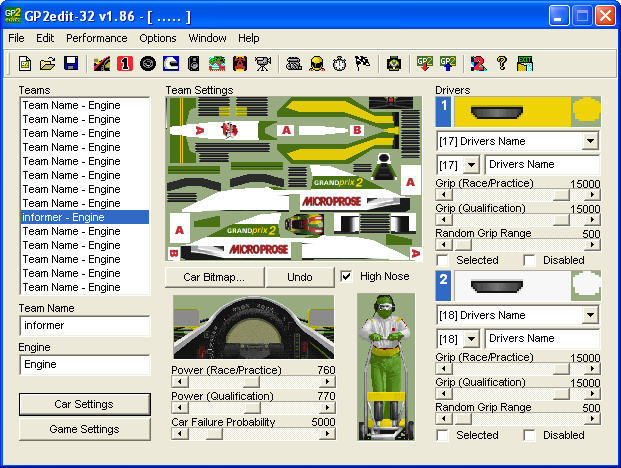GP2edit-32 Download - P2edit allows you to create single file car ...