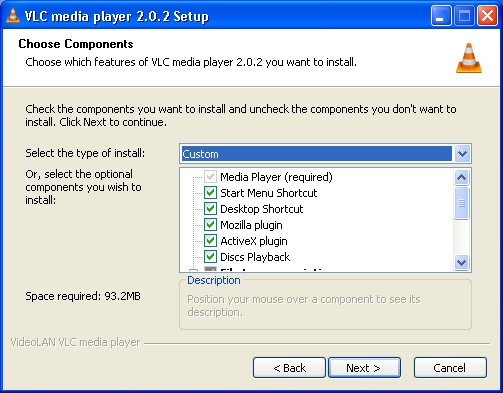 The Version 2.0.2 Installation Window