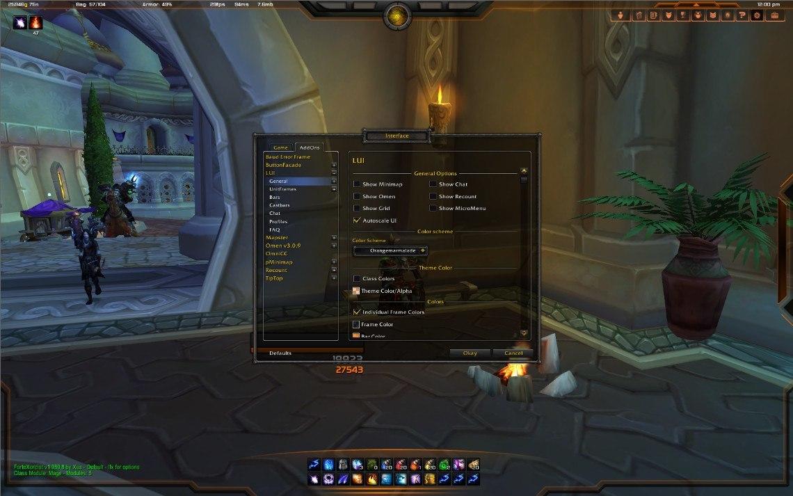 Game Interface Window