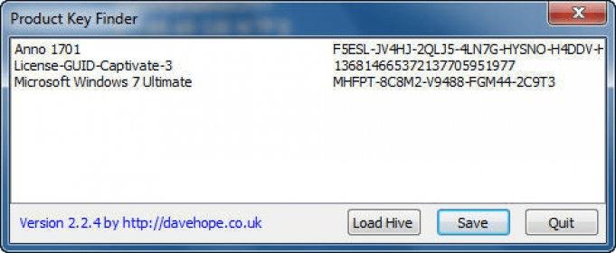 davehope co uk Product Key Finder - Software Informer