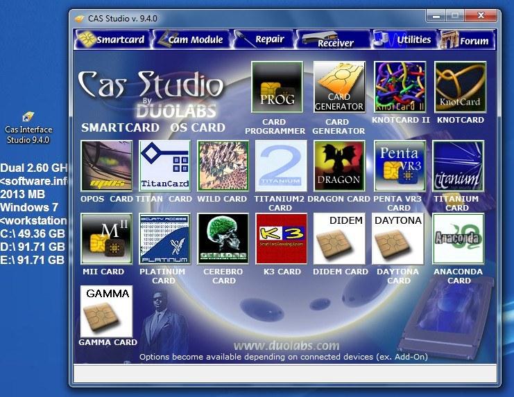duolabs cas studio windows 7