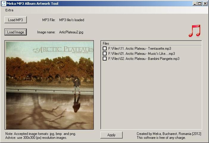 Meka Mp3 Album Artwork Tool Download Simple And Free Tool To Help You Assign A Cover Image To Your Mp3 Audio Files