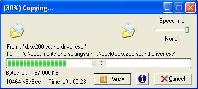 Total copy view and remaining bytes