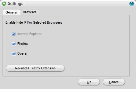 Browser Settings GUI