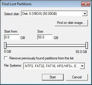 Lost Partitions Finder