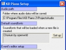 KB Piano Setup window