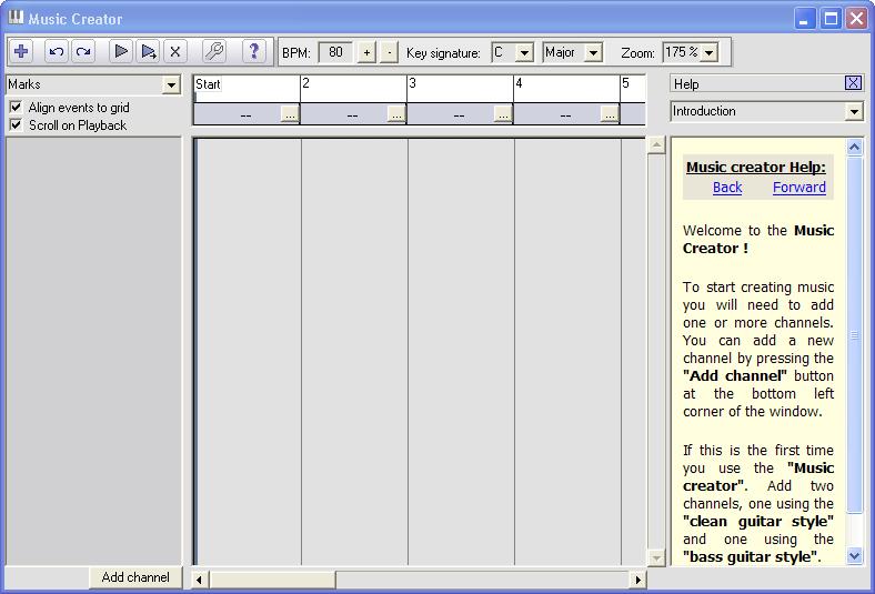 Music Creator window