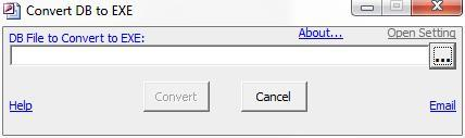 convert db to exe free download