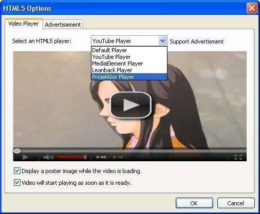 HTML5 Options