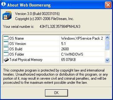 About Web Boomerang