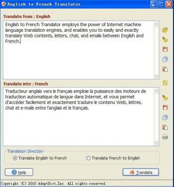 FREE English-French Translator Download - Program that
