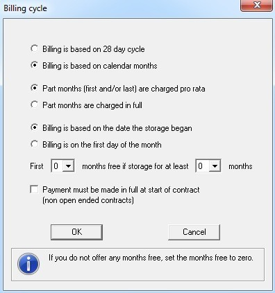 Billing cycles