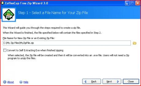 CoffeeCup Free Zip Wizard Download - CoffeeCup Free Zip Wizard will
