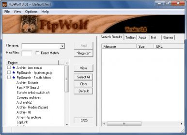 FtpWolf Download - It can search most of the world's FTP search