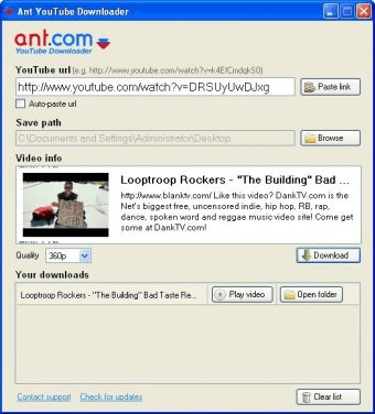 Ant com YouTube Downloader - A useful free software that allows you