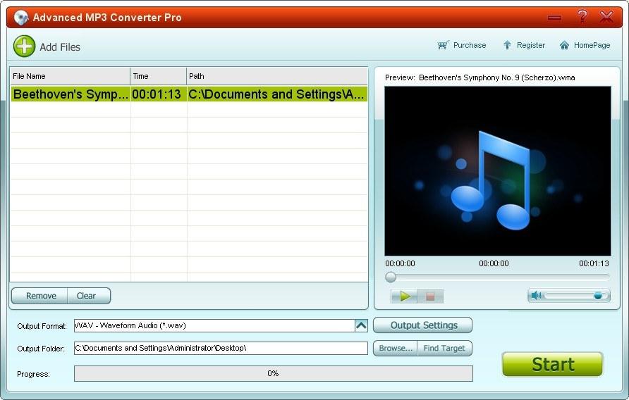 Advanced MP3 Converter v2.62