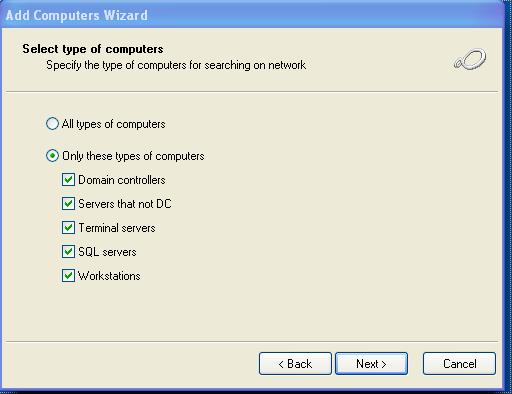 Add computer wizard