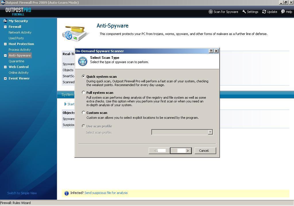 On-Demand Spyware Scanner
