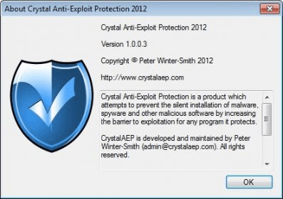Crystal Anti-Exploit Protection 2012 Download - CrystalAEP