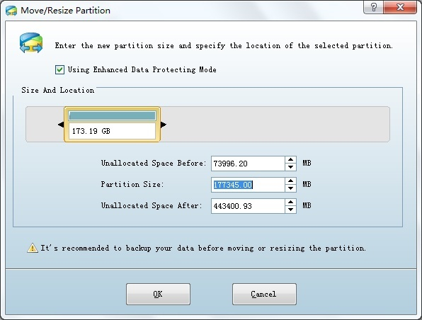 MoveResize Partition window