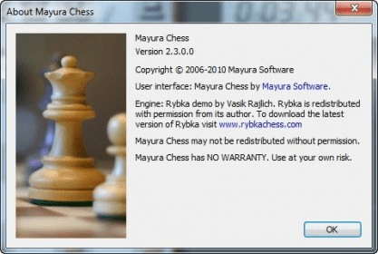 Mayura chess board 2. 3 download (free) chessboard. Exe.