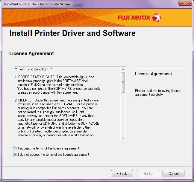 DocuPrint P255 d_dw - Software Informer  Configures the Fuji Xerox