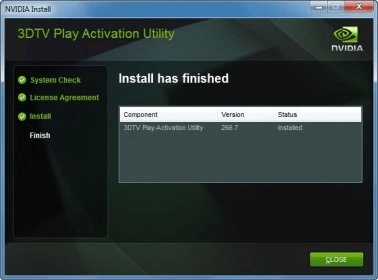 nvidia 3dtv play activation utility