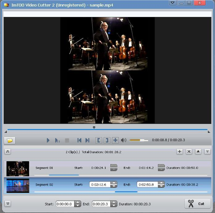 Editing various segments