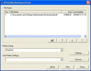 KYOCERA Net Direct Print Download (KMDP exe)
