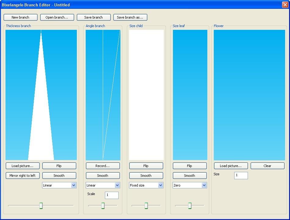 Branch Editor Window