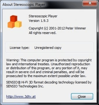 Stereoscopic Player 1 9 Download (Free trial) - StereoPlayer exe