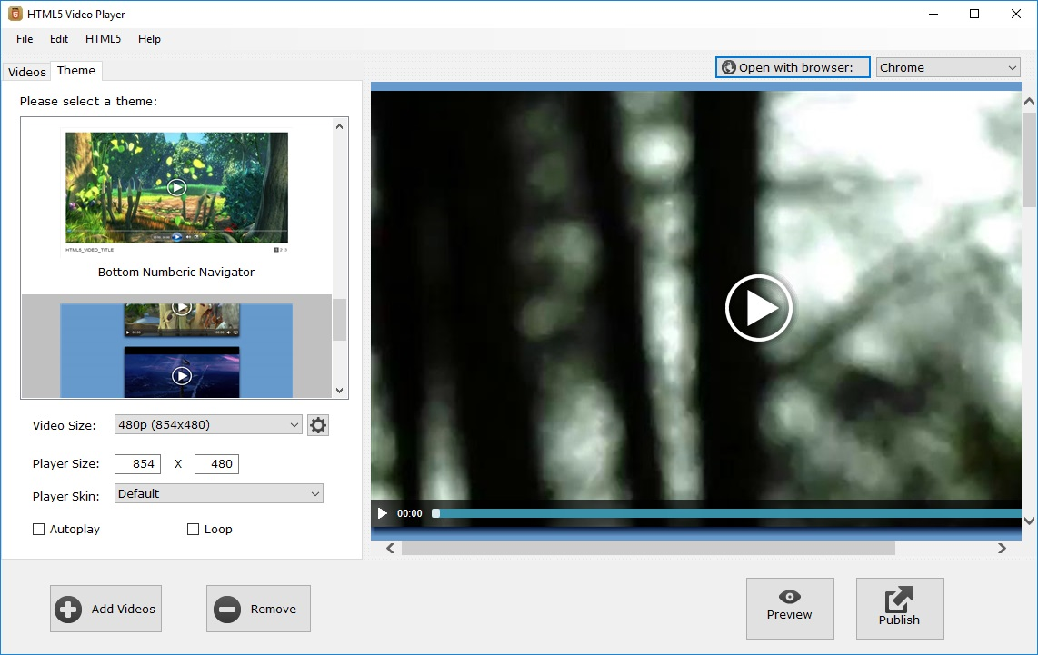 HTML5 Video Player 1.2