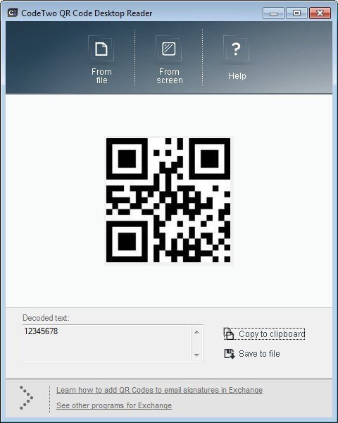 Scanned Code