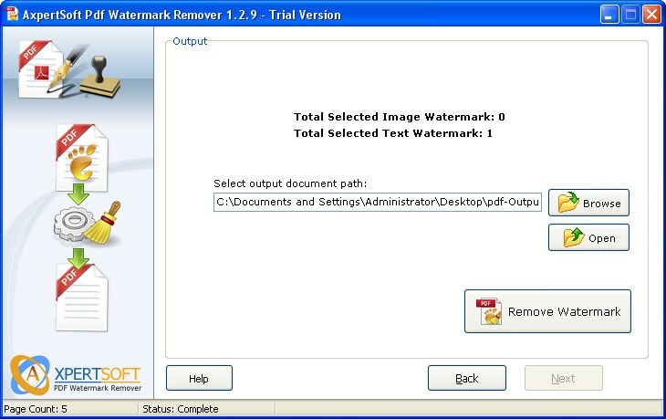 AxpertSoft Pdf Watermark Remover Download Free Version (PdfWmarkR exe)