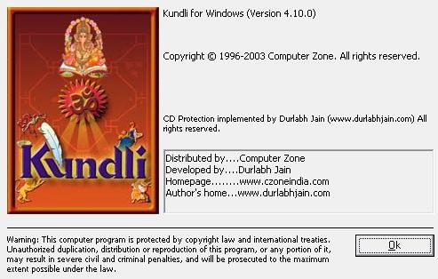 Kundli about window