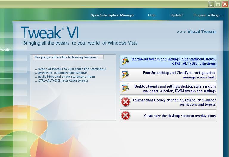 Visual Tweaks