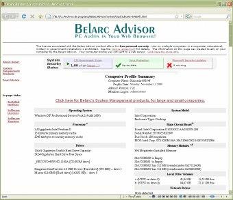 Belarc Advisor 7 0 Download - BelarcAdvisor exe