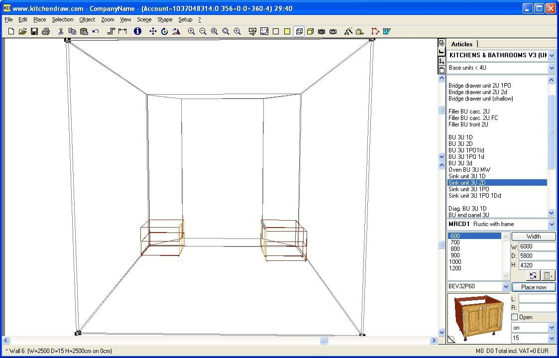 Wireframe perspective