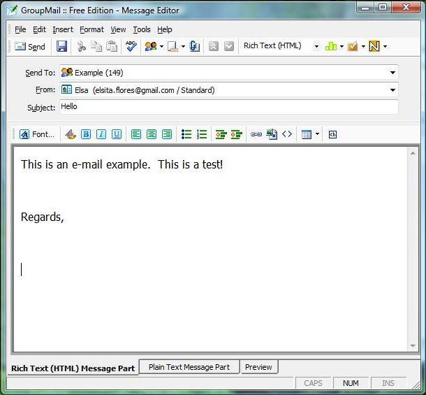 Mail Example