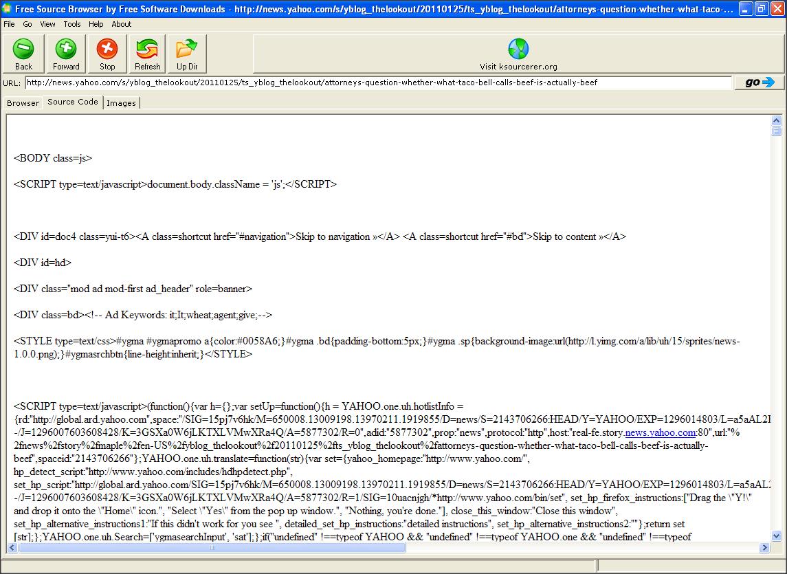 Source Code Tab
