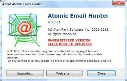 free atomic email hunter 11.40.0.255 registration key