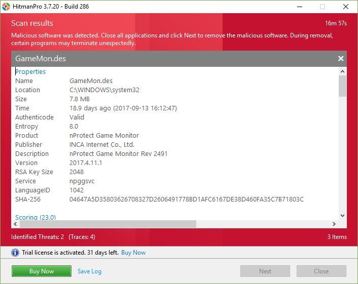 Malware information