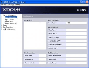 XDCAM DRIVE FILE SYSTEM DRIVER FOR WINDOWS DOWNLOAD
