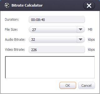 Bitrate Calculator