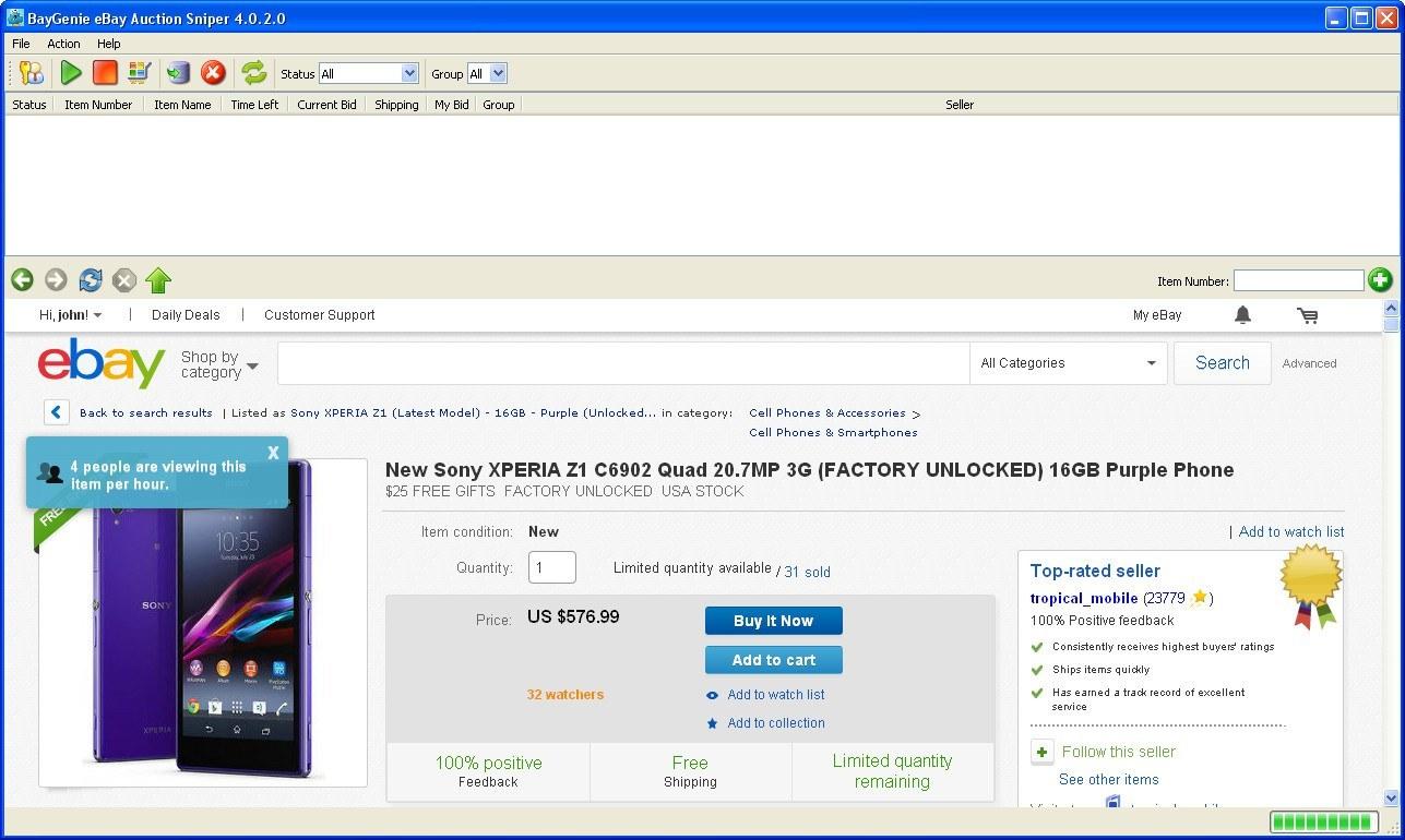 Baygenie Ebay Auction Sniper 4 0 Download Free Baygenie Exe