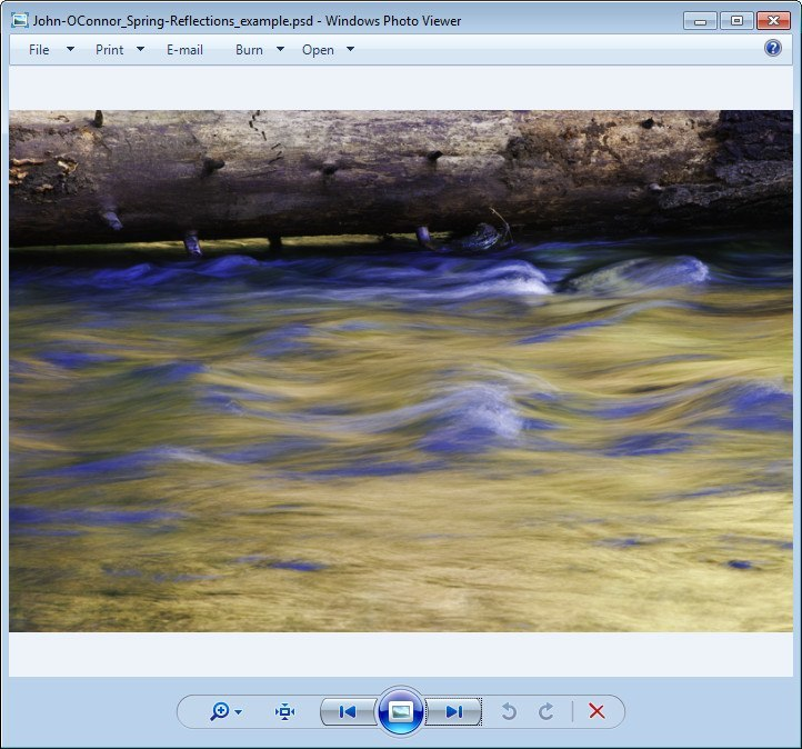 Viewing a PSD with Windows Picture Viewer