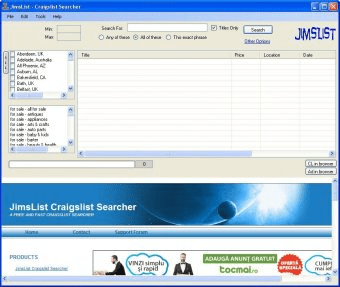 JimsList Download - It enables you to search craigslist