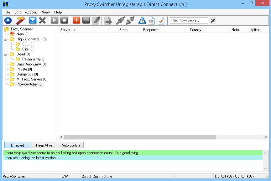 Proxy Switcher  Get the software safe and easy