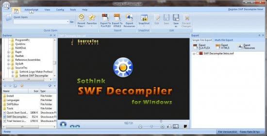 Sothink SWF Decompiler 4 2 Download - SWFDecompiler exe